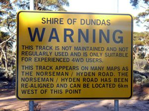 DUN17 -31.97239 lon=120.7812 Queen Victoria Rock rd and Old Hyden Norseman rd